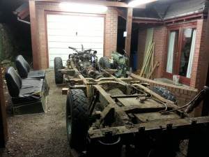 rusty 109 rolling chassis