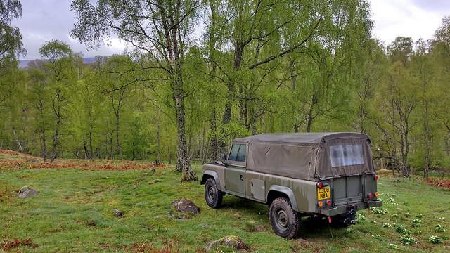 green land rover 110